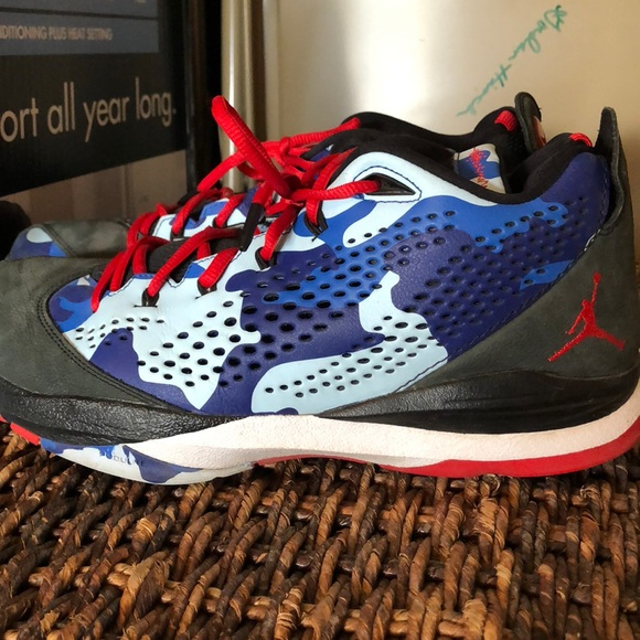 Jordan Shoes Cp37 Camo Blue Colorway Size 11 Poshmark